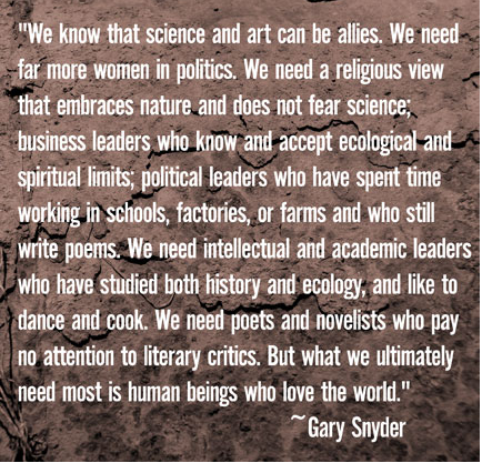 Gary Snyder quotations